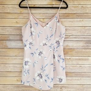 Lulus Pink Floral Sleeveless Layered Romper